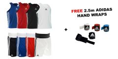 Adidas Base Punch Boxing Vest & Shorts Package - FREE 2.5m Hand Wraps