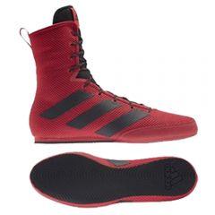 Adidas Box Hog 3 Boxing Boots - Red Black