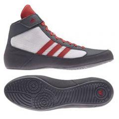 Adidas Havoc Wrestling Boots - Grey Red White