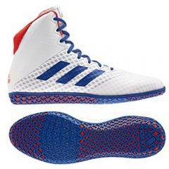 Adidas Mat Wizard 4 Wrestling Boots - White Blue