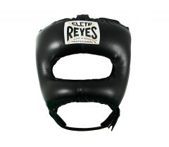 Cleto Reyes Black Leather Head Guard with Nylon Pointed Face Bar