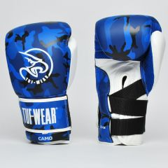 Tuf Wear Camo Leather Training Glove - Blue-Black-White