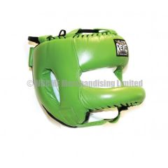 Cleto Reyes Green Leather Head Face with Nylon Round Face Bar