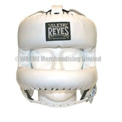 Cleto Reyes White Leather Head Face with Nylon Round Face Bar