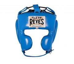 Cleto Reyes Blue Leather Head Guard with Cheek Protectors