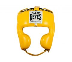Cleto Reyes Yellow Leather Head Guard with Cheek Protectors