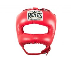 Cleto Reyes Red Leather Head Guard with Nylon Pointed Face Bar