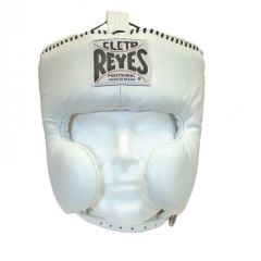 Cleto Reyes White Leather Head Guard with Cheek Protectors