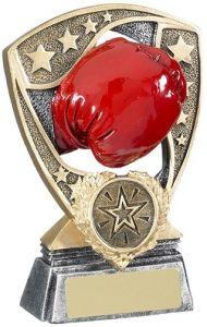 Boxing Glove Shield Award Trophy - Add Engraving