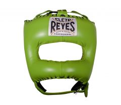 Cleto Reyes Green Leather Head Guard with Nylon Pointed Face Bar