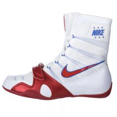 Nike Hyper KO Boxing Boots - White Red