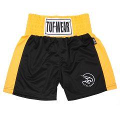 Tuf Wear Kids Junior Club Boxing Shorts - Black Gold