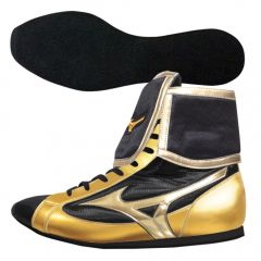 Mizuno Mid-Cut Fully Folded Type Boxing Boots - Black Gold