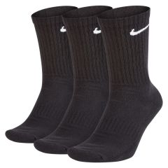 Nike Everyday Cushion Crew Training Socks Black - 3 Pack