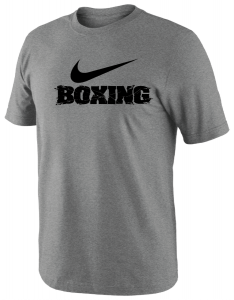 Nike Men's Boxing Big Swoosh Training Tee - Grey/Black