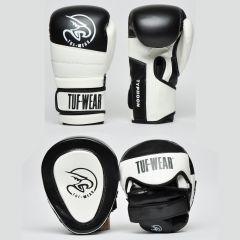 Tuf Wear Pads & Gloves Pack Black-White