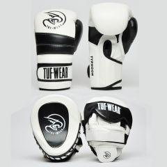 Tuf Wear Pads & Gloves Pack White-Black