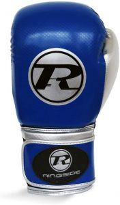 Ringside Pro Fitness Glove Synthetic Leather Glove Metallic Blue / Black / Silver