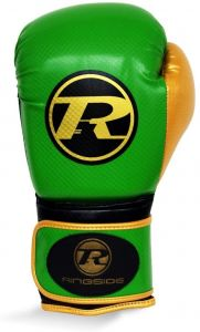 Ringside Pro Fitness Glove Synthetic Leather Glove Metallic Green / Black / Gold