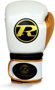 Ringside Pro Fitness Glove Synthetic Leather Glove Metallic White / Black / Gold