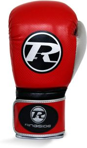Ringside Pro Fitness Glove Synthetic Leather Glove Metallic Red / Black / Silver