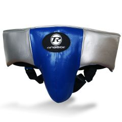 Ringside Pro Fitness Groin Guard Synthetic Leather Metallic Blue / Black / Silver