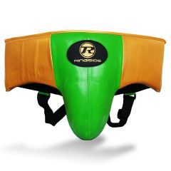 Ringside Pro Fitness Groin Guard Synthetic Leather Metallic Green / Black / Gold
