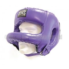Cleto Reyes Purple Leather Head Face with Nylon Round Face Bar