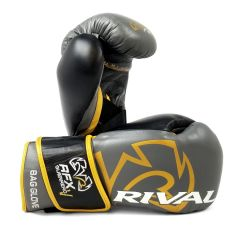 Rival RFX-GUERRERO HDE-F Bag Gloves with Velcro Strap - Grey Gold