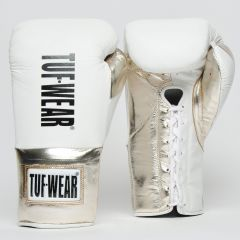 Tuf Wear Sabre BBBofC Approved Contest Gloves - White-Gold