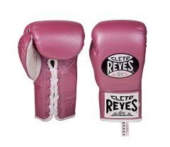 Cleto Reyes Pink Safetec Contest Boxing Gloves