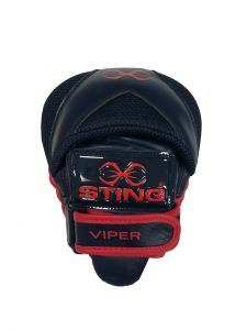Sting Viper Leather Focus Pads - Navy Red