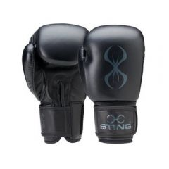 Sting Titan Boxing Gloves - Black-Charcoal