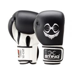 Sting Titan Boxing Gloves - Black-White