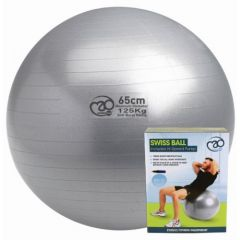 Fitness Mad Swiss Ball + Pump - 65cm Silver