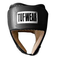 Tuf Wear PU Open Face Head Guard Black