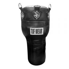 Tuf Wear Black Leather Angle Punch Bag