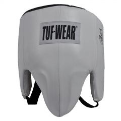 Tuf Wear Boxing Pro Style Groin Guard Leather White