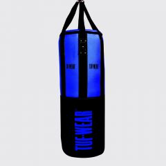 Tuf Wear 3.5FT 18inch Diameter Belts and Braces Punch Bag 40kg PU / Leather - Blue