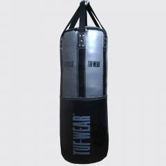 Tuf Wear 4FT 18inch Diameter Belts and Braces Punch Bag 50kg PU / Leather - Grey