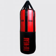 Tuf Wear 3.5FT 18inch Diameter Belts and Braces Punch Bag 40kg PU / Leather - Red