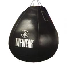 Tuf Wear Boxing Black Leather Wrecking Ball (Large Maize Ball)