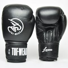 Tuf Wear Legend Leather Sparring Glove - Black