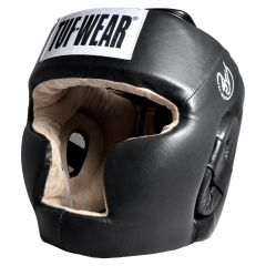 Tuf Wear Boxing Head Guard Hide Leather Full Face