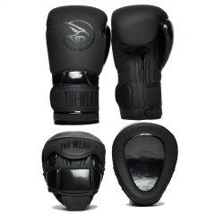 Tuf Wear Atom Pads & Gloves Pack Triple Black