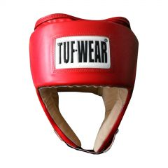Tuf Wear PU Open Face Head Guard - Red