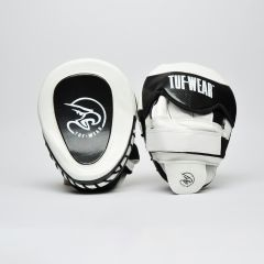 Tuf Wear Eagle Gel Curved Hook & Jab Pads-White Black