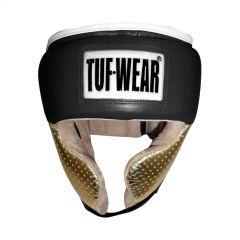 Tuf Wear Apollo Metallic Leather Headguard with Cheek - Black