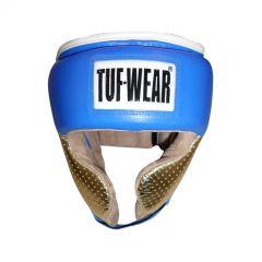 Tuf Wear Apollo Metallic Leather Headguard with Cheek - Blue