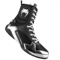 Venum Elite Boxing Shoes - Black-Silver